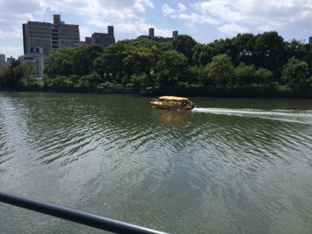 水上タクシーと広電 広島出張